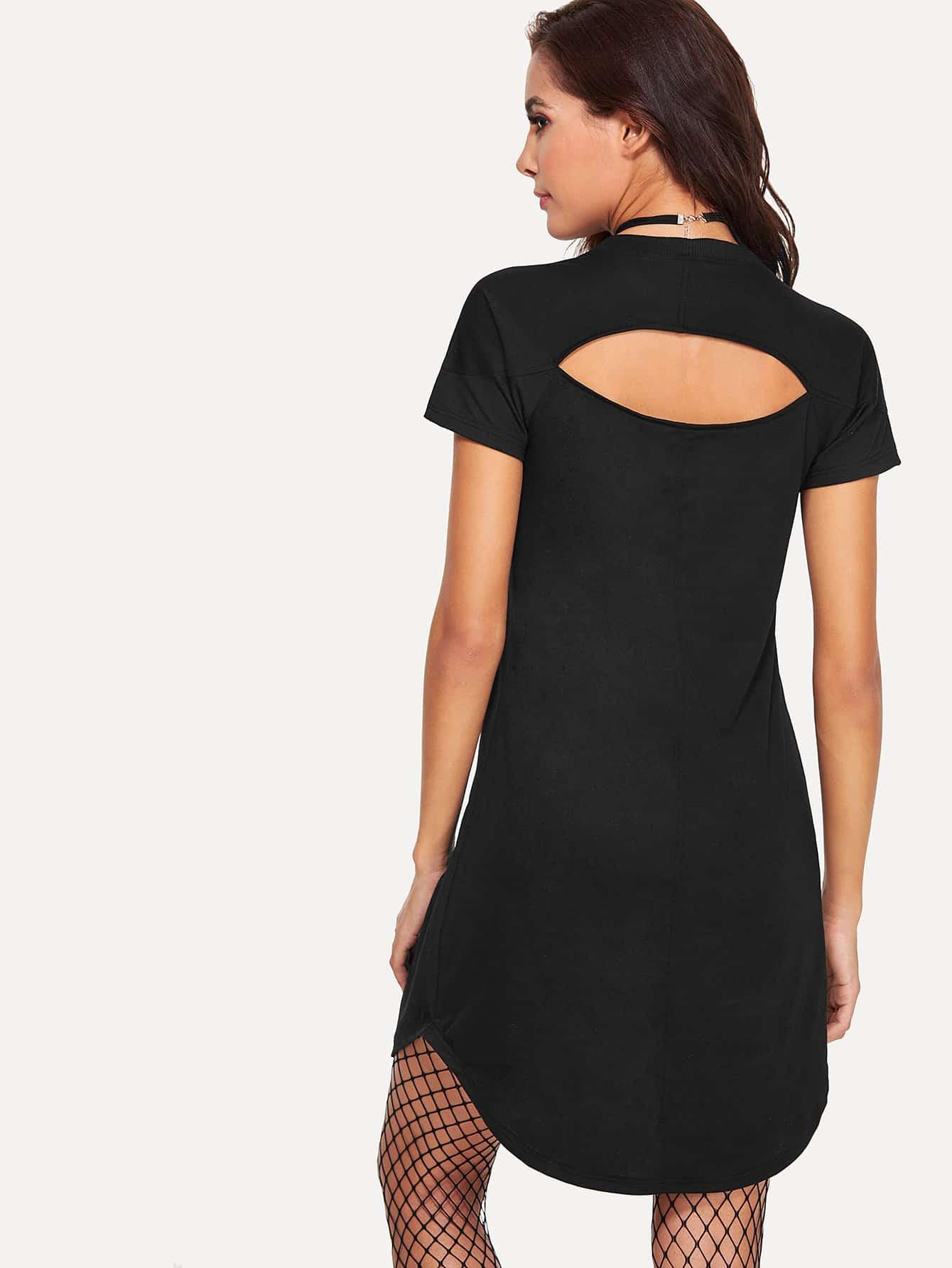 Cut Out Back Dress cut out pencil dress