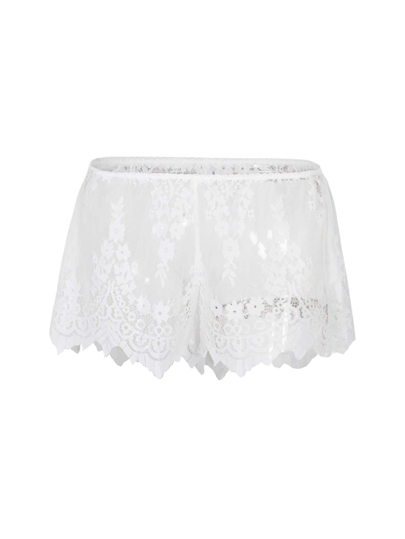 Lace Asymmetric Shorts