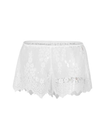 Lace Asymmetric Shorts