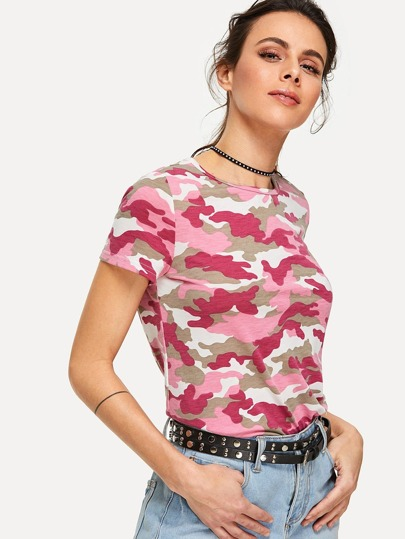 T-Shirt mit Camo Muster