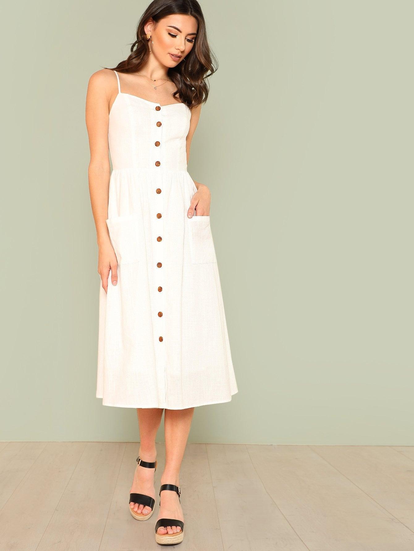 Купить Платье с карманами, Zandria Theis, SheIn