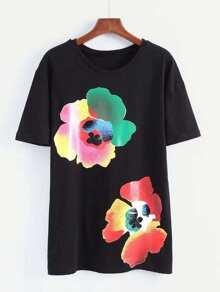 Flower Print Tee