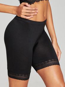 Lace Hem Shortie Panty