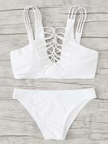 Strappy Knot Bikini Set