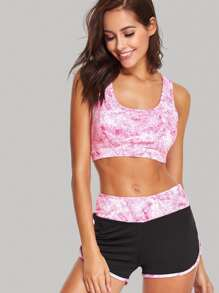 Cut Out Sports Bra And Shorts