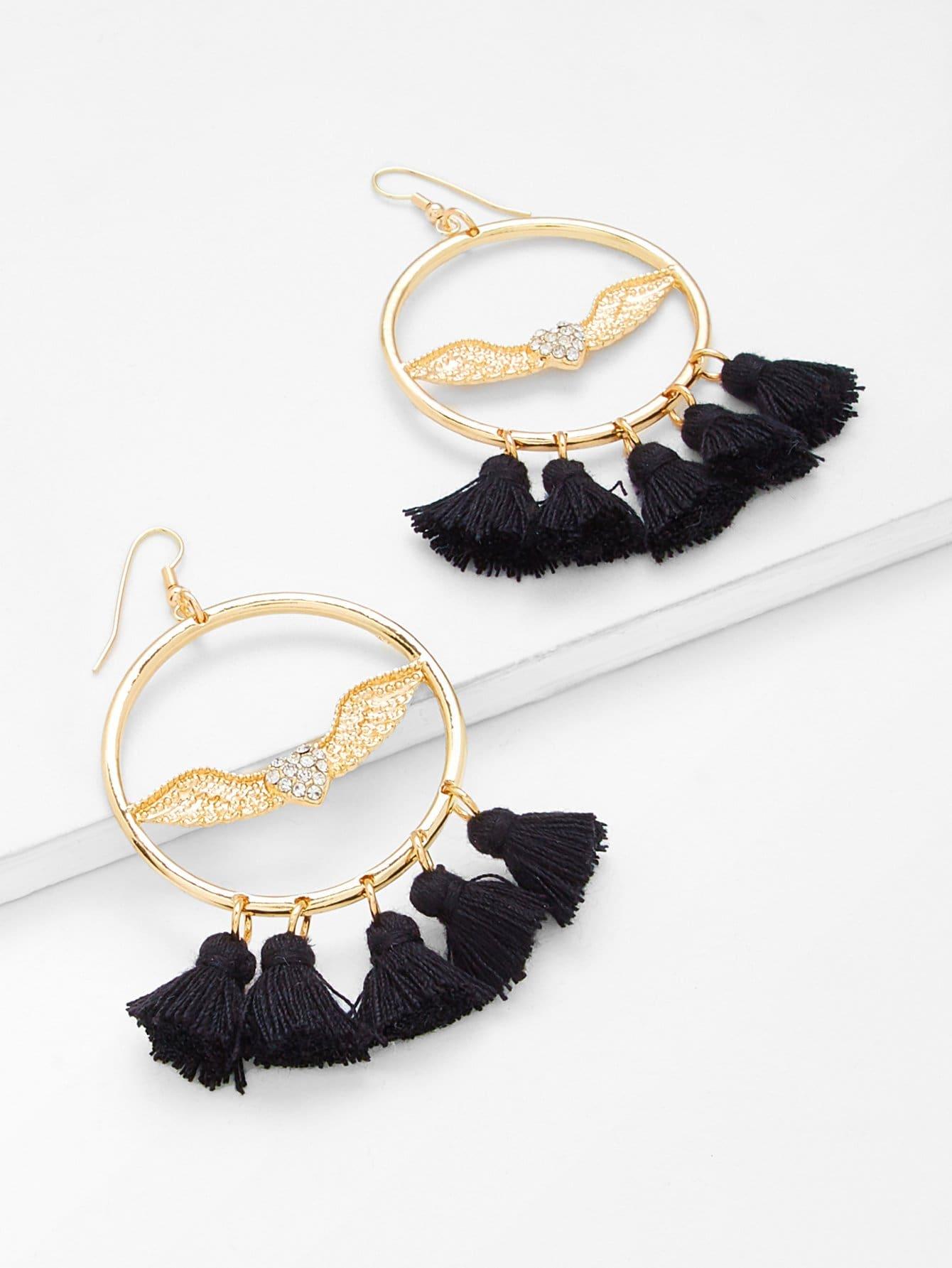 Tassel Design Statement Earrings