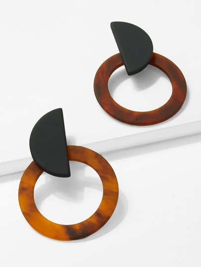 Marble Pattern Hoop Earrings