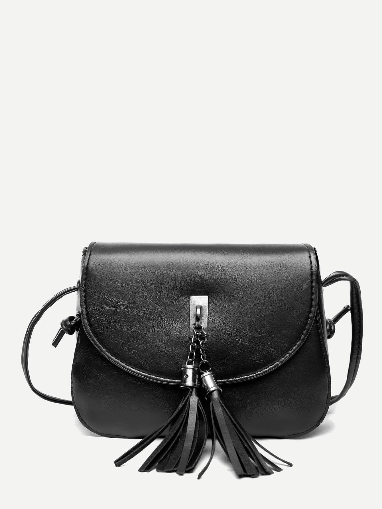 Tassel Decor Flap Saddle Bag sa212 saddle bag motorcycle side bag helmet bag free shippingkorea japan e ems