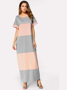 Color Block Pocket Dress