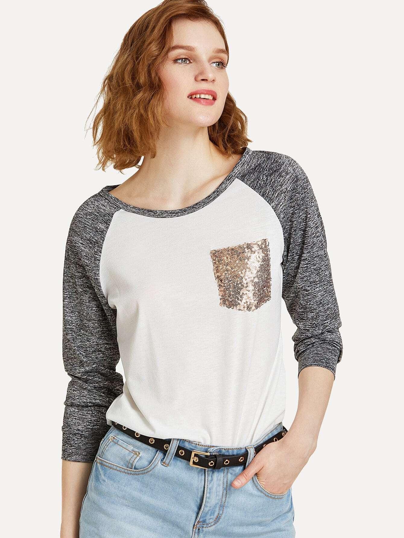 Single Pocket Space Dye Raglan Sleeve T-shirt dip dye button down short sleeve shirt