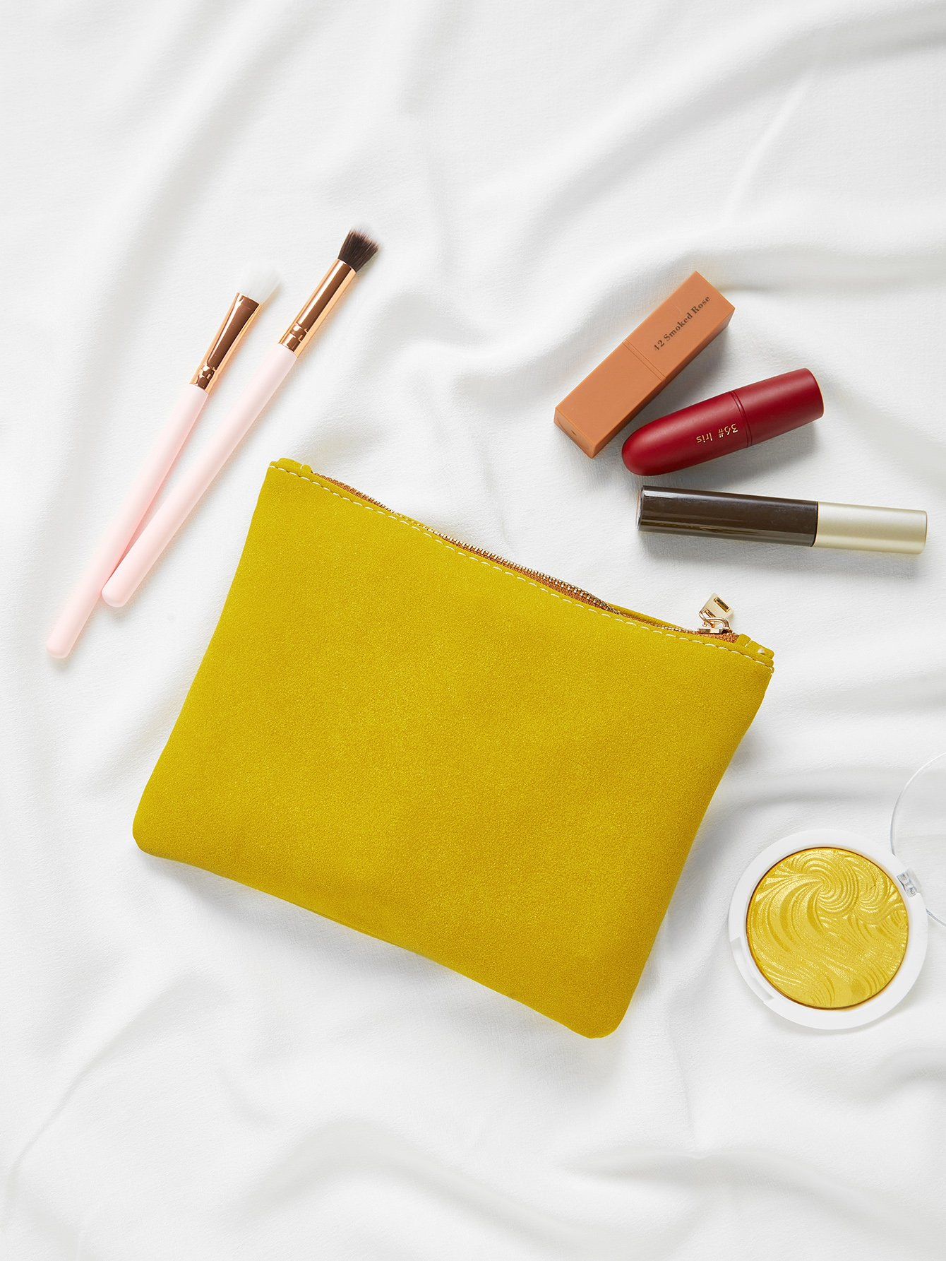 Suede Makeup Bag makeup organizer travel bag women cosmetic bags summer dumpling clutch women packages waterproof cosmetic bag handbag