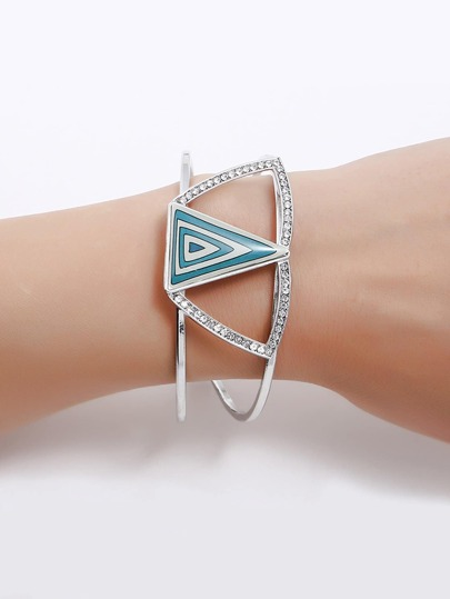 Triangle Design Hollow Cuff Bracelet