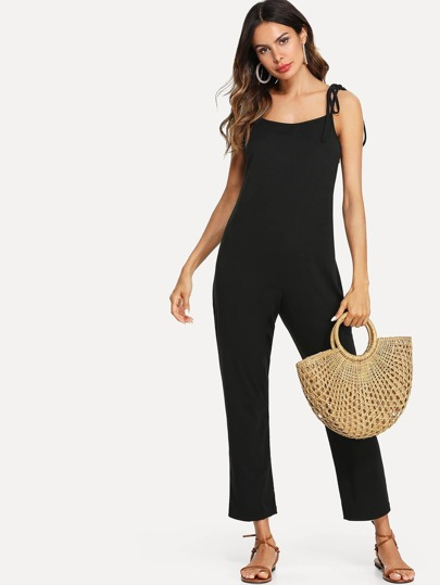 Knot Shoulder Cami Jumpsuit
