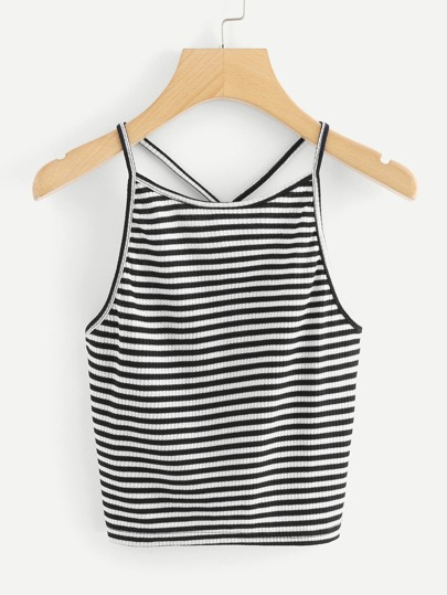 Striped Knit Cami Top