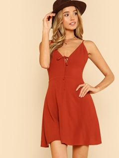 Tie Front Flowy Cami Dress
