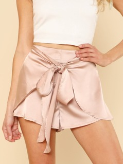 Knot Overlap Front Shorts