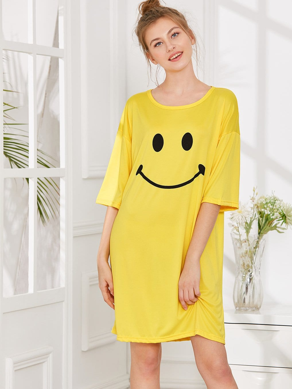 Smile Print Nightdress smile print nightdress