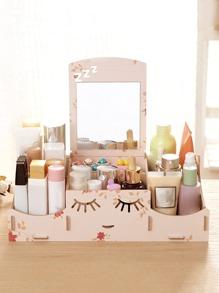 Smile Design Desk Organizer With Mirror