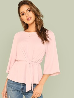 Knot Front Keyhole Back Top