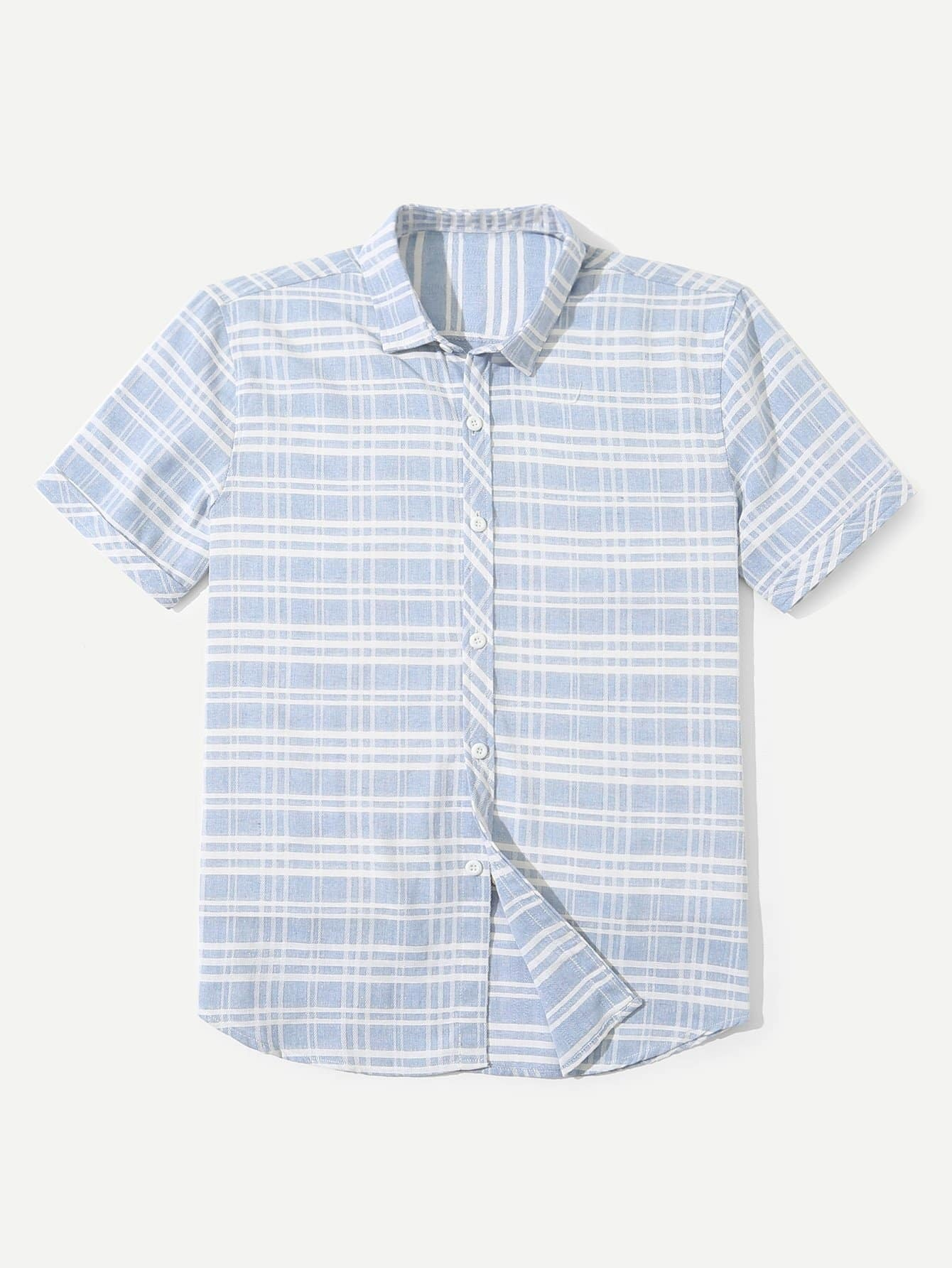 Men Tartan Plaid Shirt цена и фото