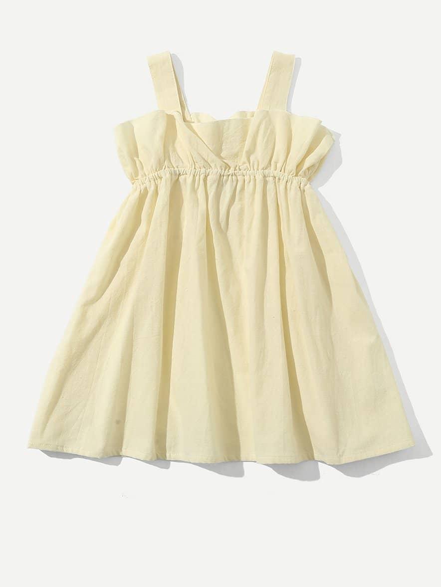 Девочек Оборкой Платье