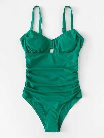 Cut Out Ruched Swimsuit