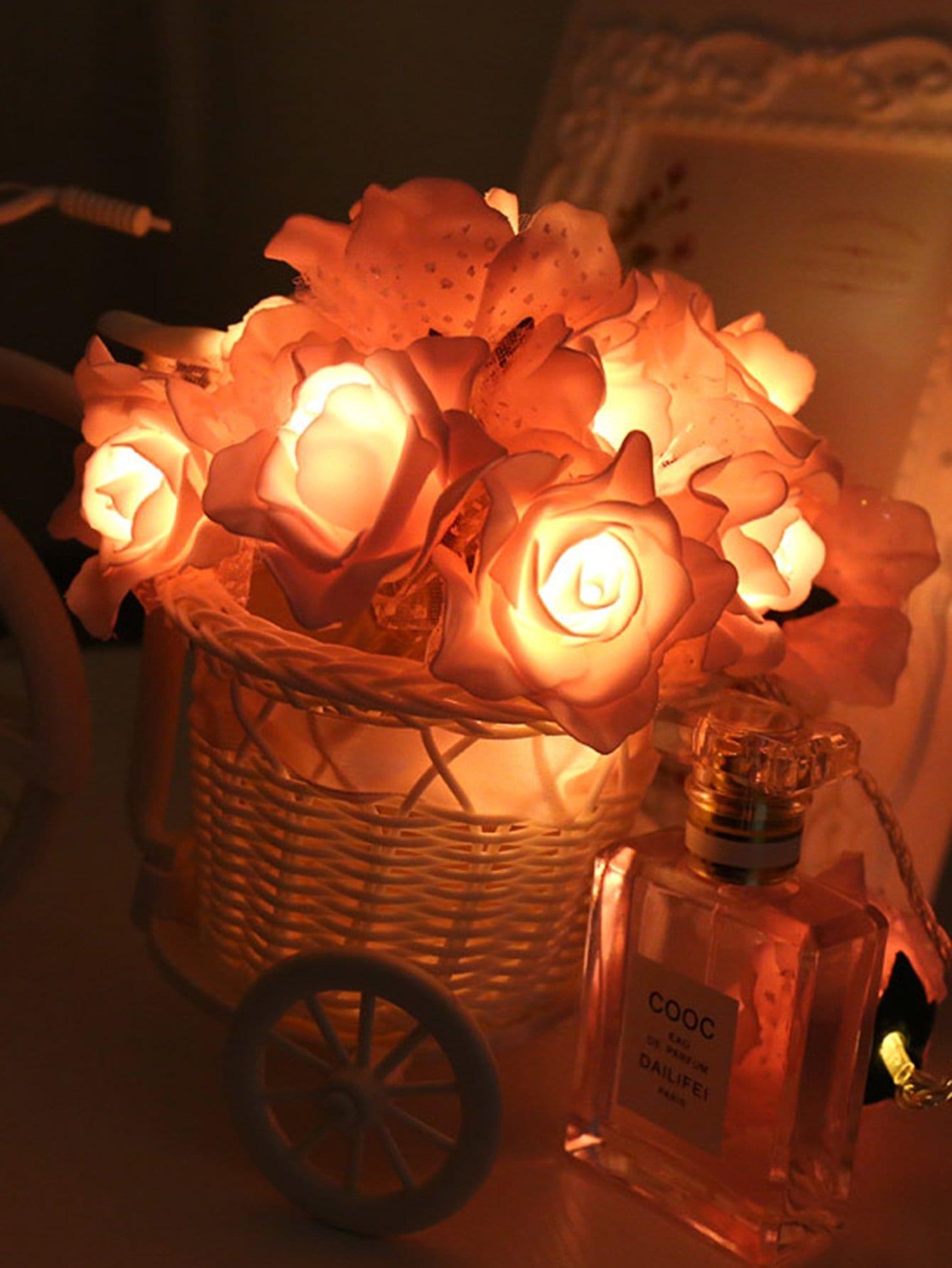 Plug In 20pcs Rose Flower String Light