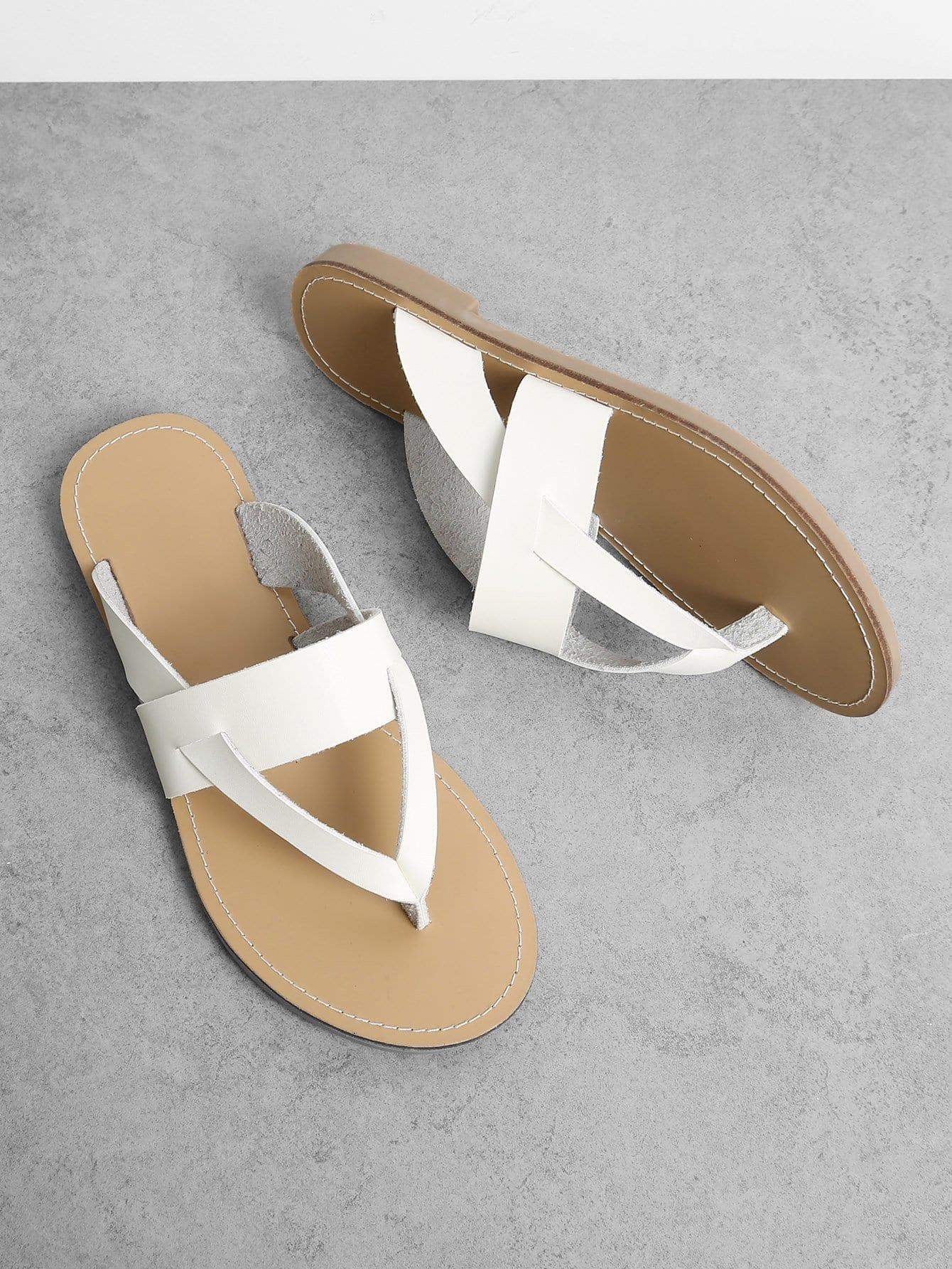все цены на Multi Strap Gladiator Toe Post Sandals