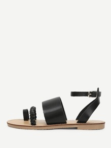 Toe Post Ankle Strap Sandals