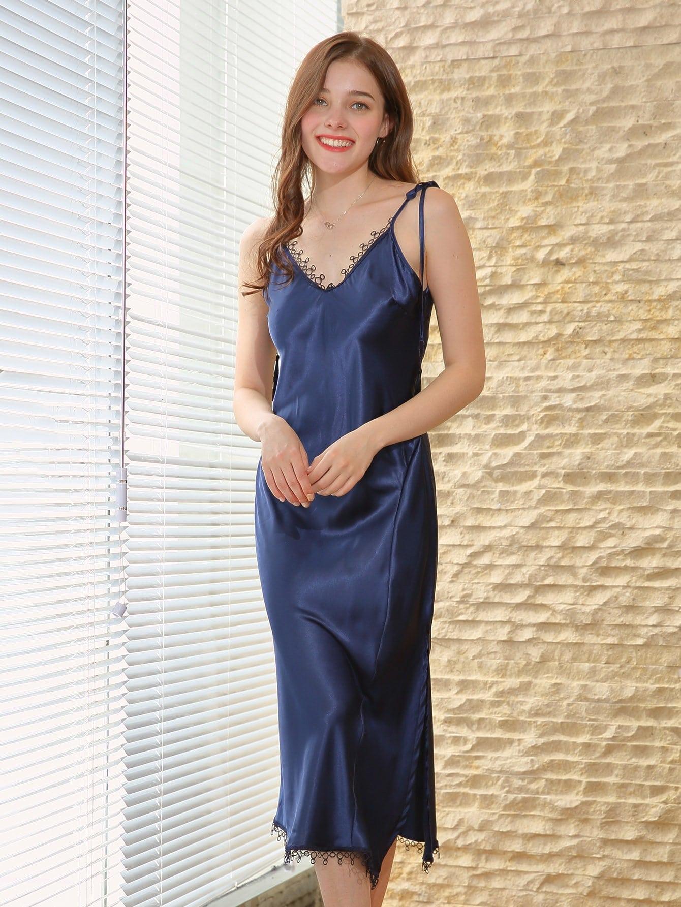 Tie Shoulder Backless Cami Dress