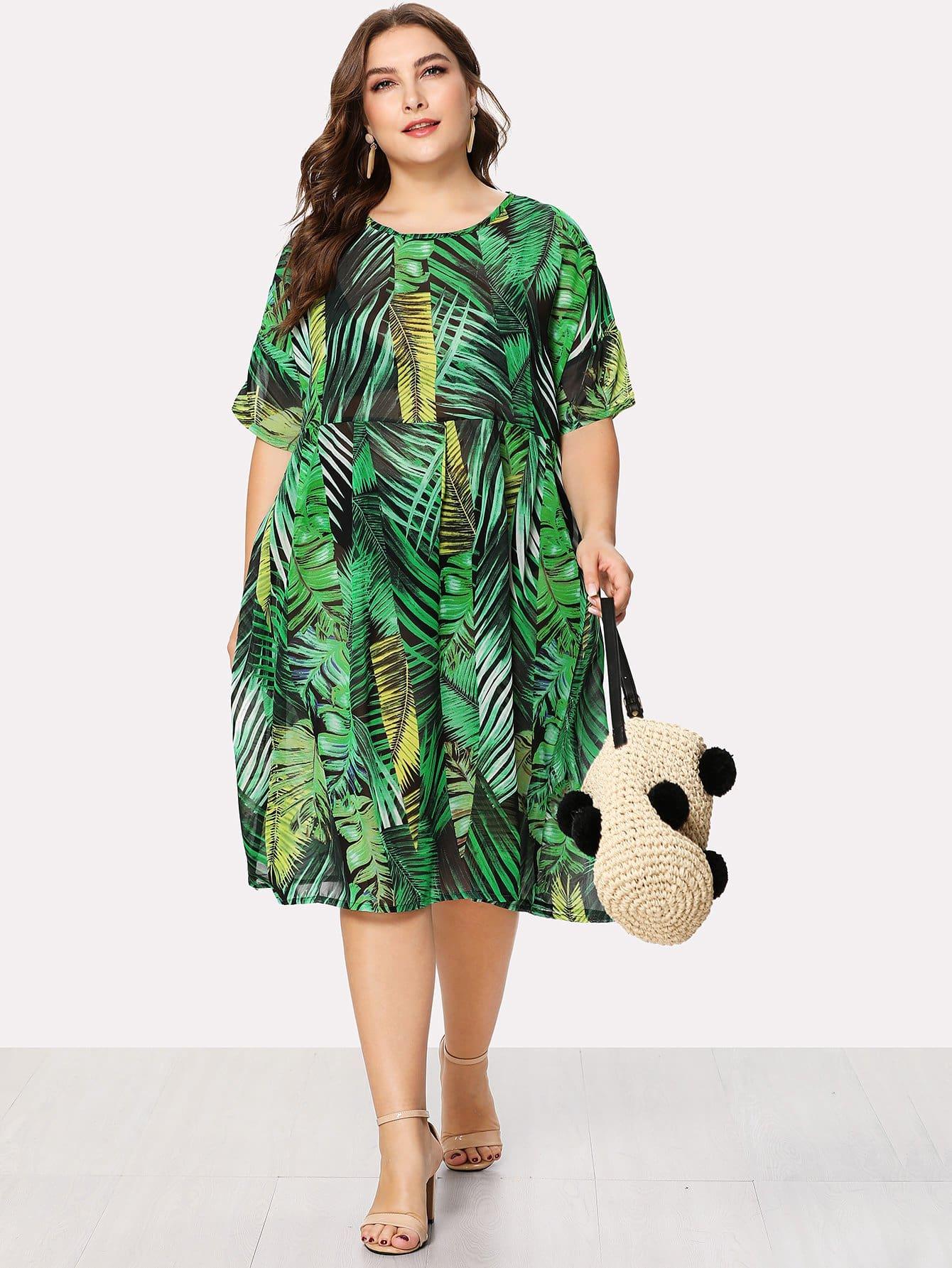 Tropic Print Dress