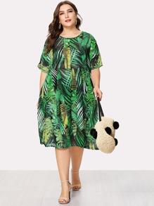 Plus Tropic Print Dress