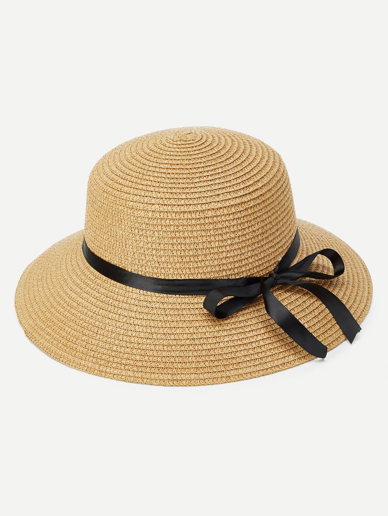 Ribbon Band Straw Hat knot band straw hat