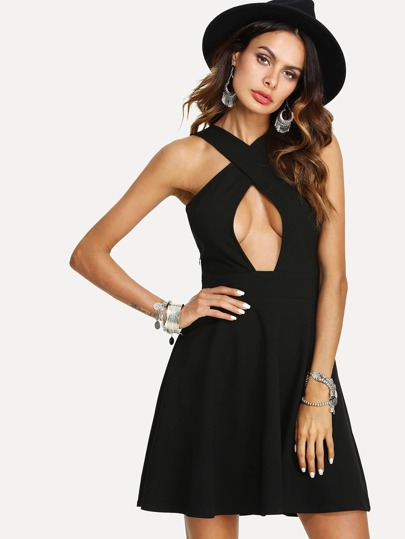 Criss Cross Cut Out Dress