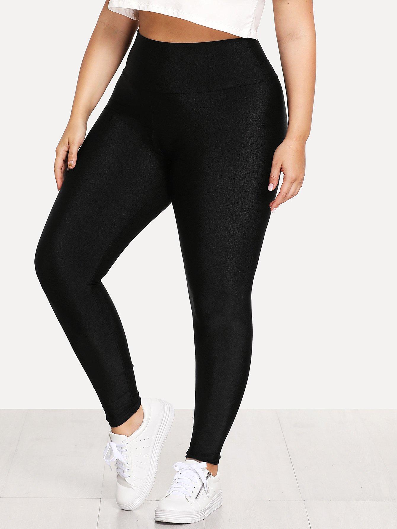 Plus Elastic Waist Skinny Leggings elastic waist skinny leggings