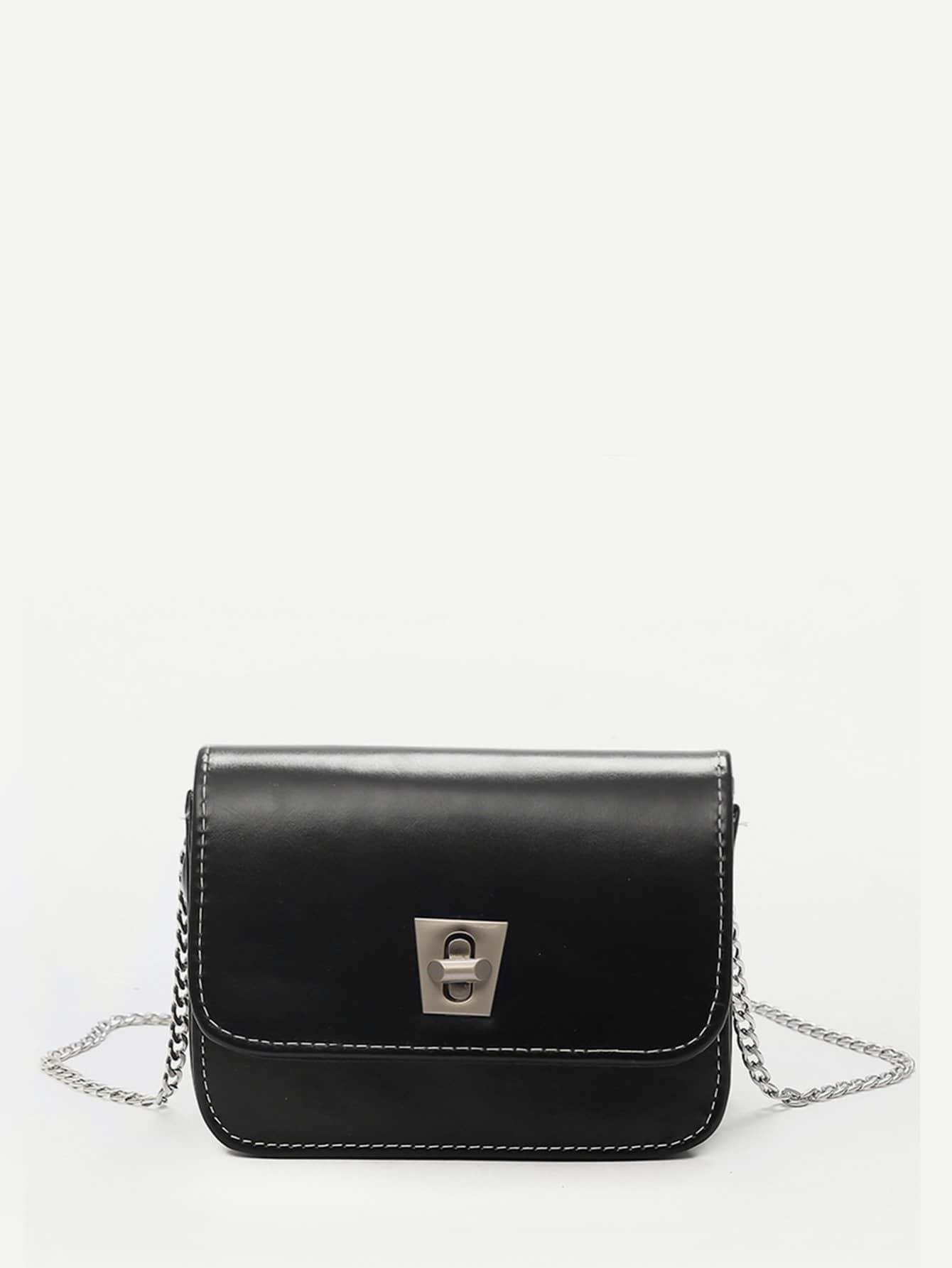 Twist Lock Flap Chain Crossbody Bag 120cm 47 bronze twist o ring bag chain diy metal purse strap 20pcs freeshipping
