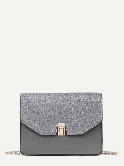 Star Detail Glitter Crossbody Bag