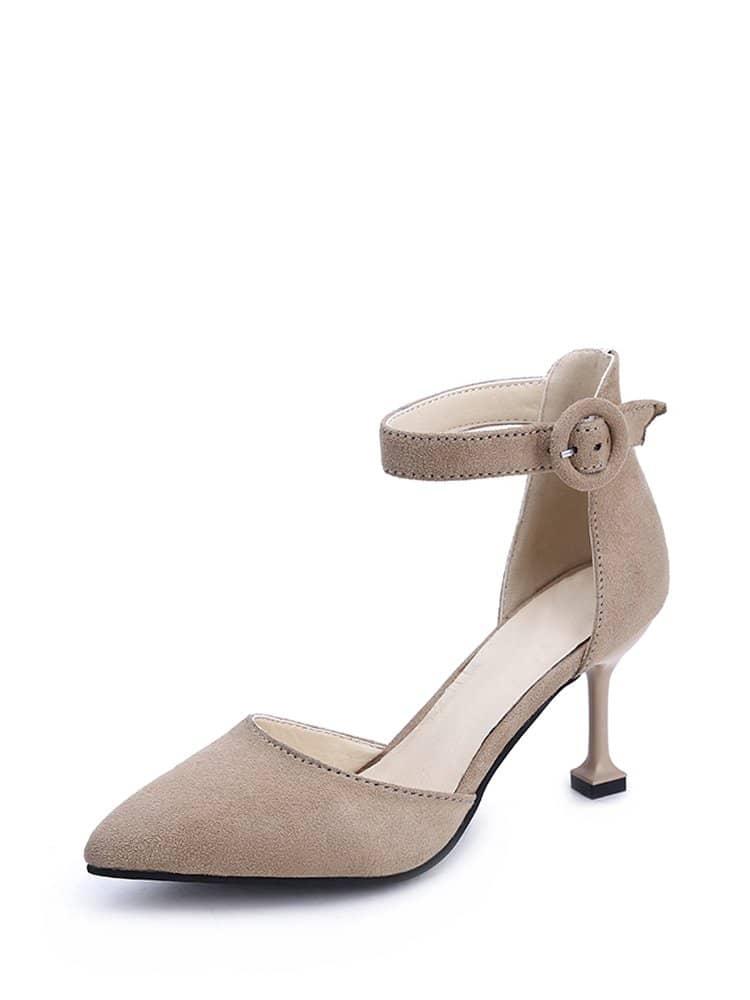 Pointed Toe Ankle Strap Heels mix color causal wedge high heels women sandals platform ladies shoes open toe ankle strap womens heels size 11 women heels