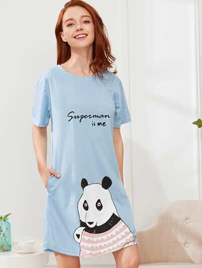 Panda Print Nightdress