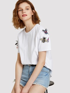 3D Applique Embellished Tee