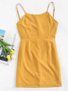 Knot Cut Out Back Cami Dress