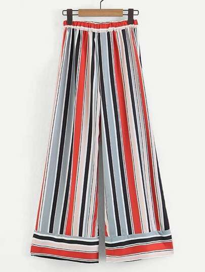 Multi-Stripe Wide Pants