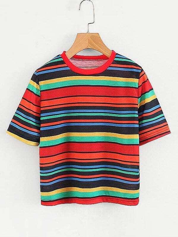 Multi-Stripe T-shirt multi stripe t shirt