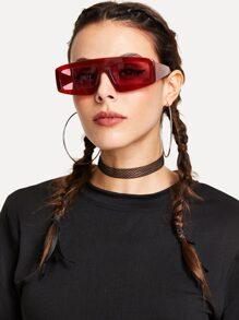 Chunky Frame Tinted Lens Sunglasses