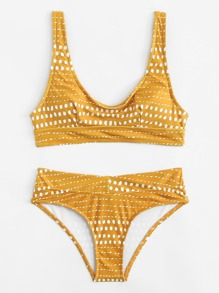 Dot Print Bikini Set