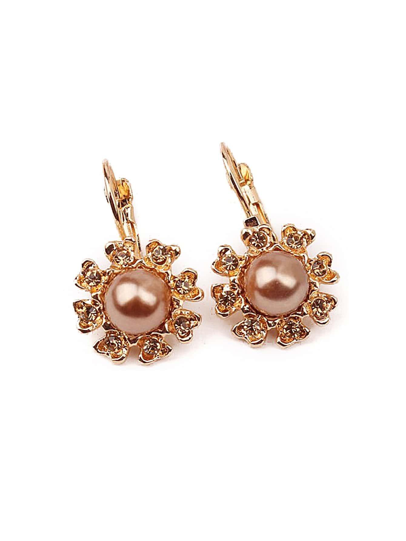 Flower Design Clip On Earrings