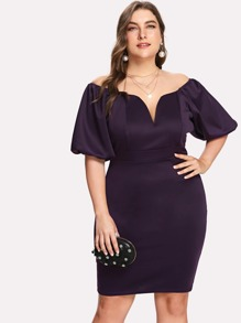 Sweetheart Bishop Sleeve Dress