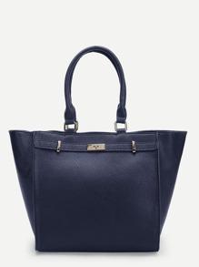 Winged Tote Bag With Twistlock