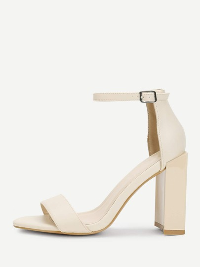 Patent Leather Mary Jane Heeled Sandals