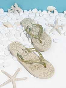 Non Slip Bottom Toe Post Slippers